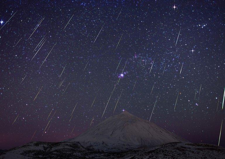 В ночь на 14 декабря можно будет наблюдать последний в этом году метеорный поток