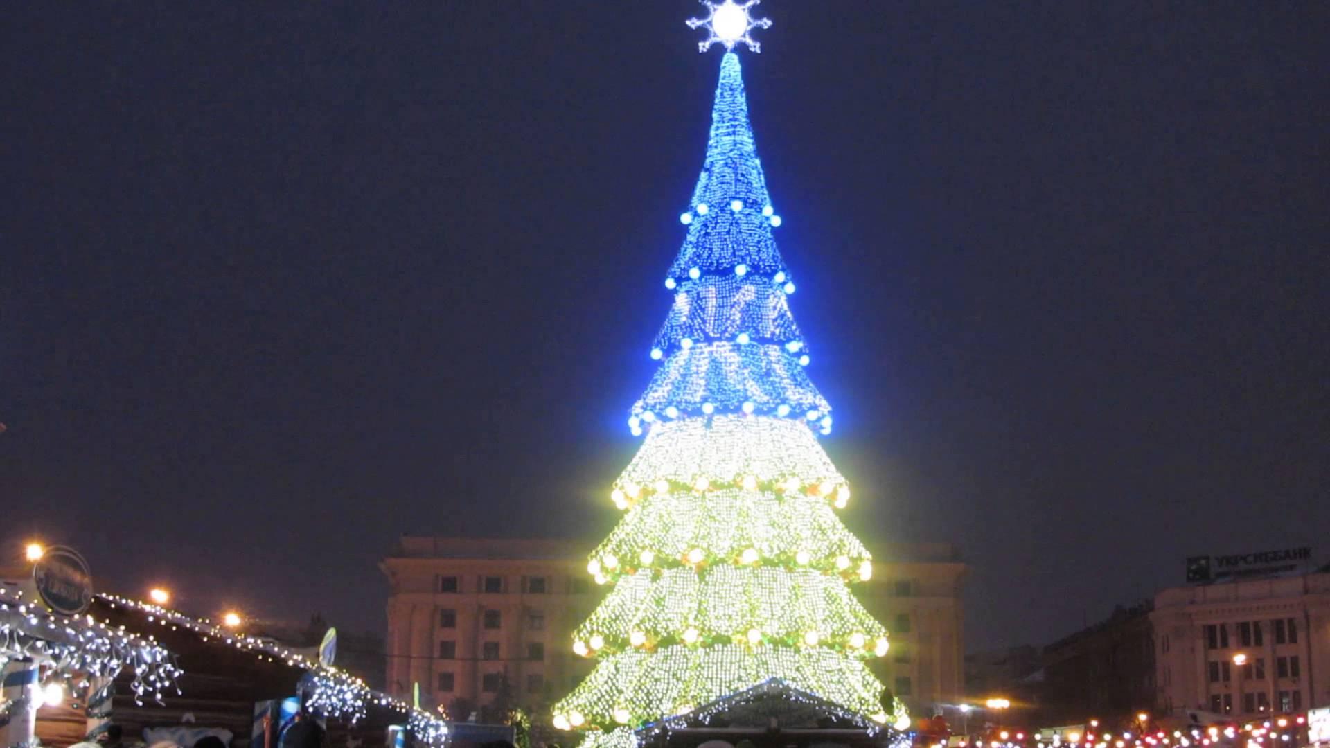 Тридцать шесть метров и двадцать сантиметров. Харьковская елка – официально самая высокая в Украине