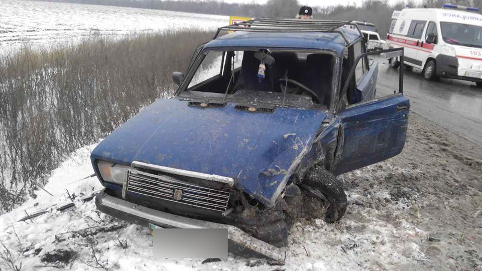 Авария произошла на трассе  «Чугуев — Меловое» возле села Первомайское