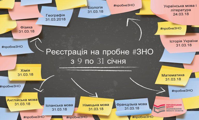 В Украине стартует регистрация на пробное ВНО