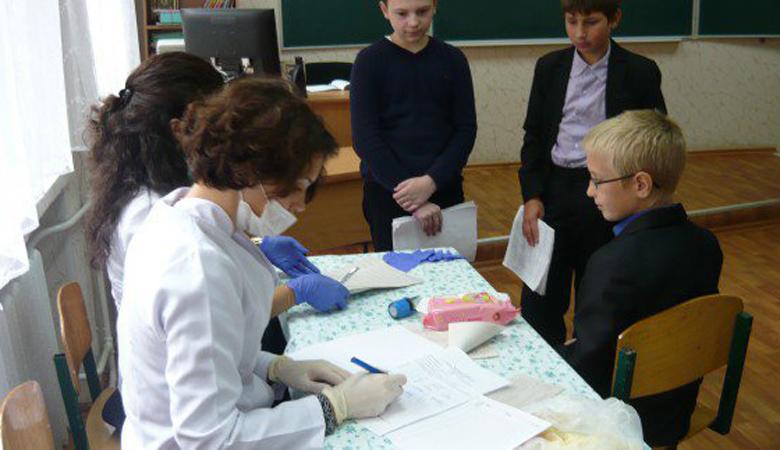 В харьковских школах прошли медицинские осмотры