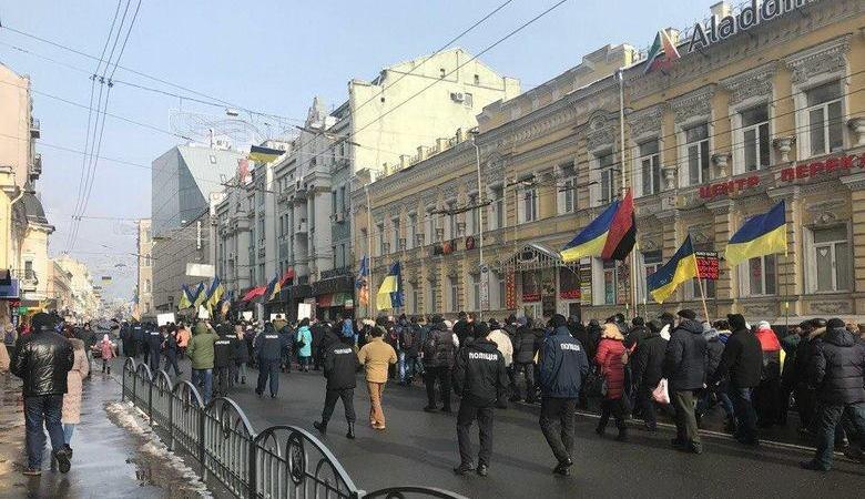 В «Марше за будущее» 18 февраля приняли  участие около 150 харьковчан