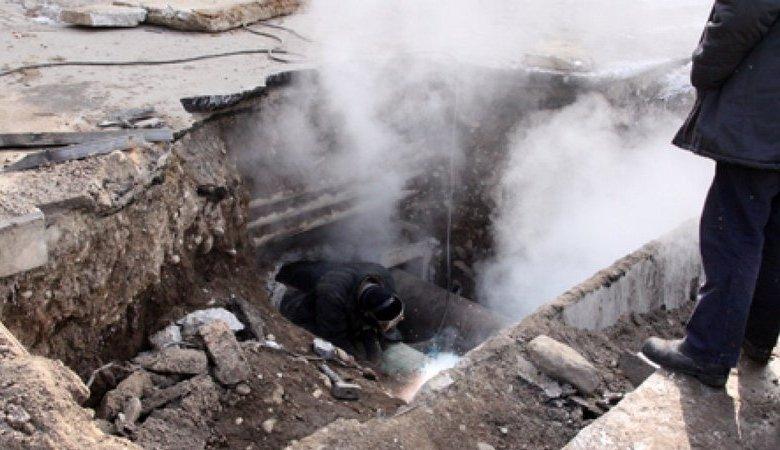 Авария на тепломагистрали в Харькове
