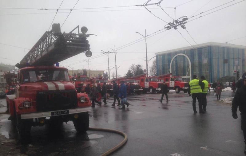 В центре Харькова — пожар