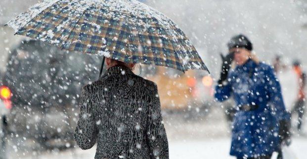 13 февраля в Харькове снег