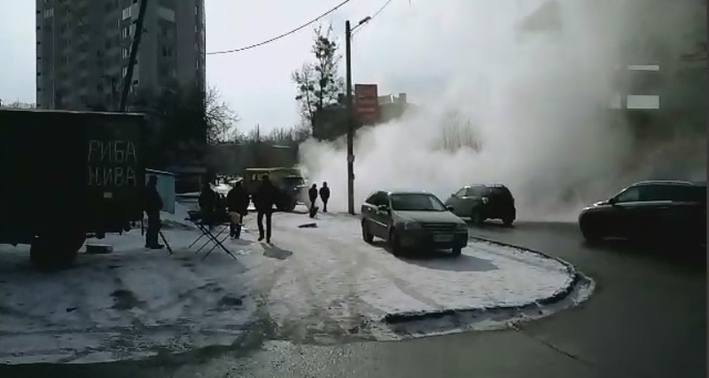 В Харькове – авария на теплотрассе