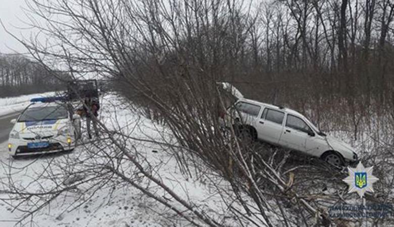 Въехал в кювет: ДТП без пострадавших на Салтовском шоссе