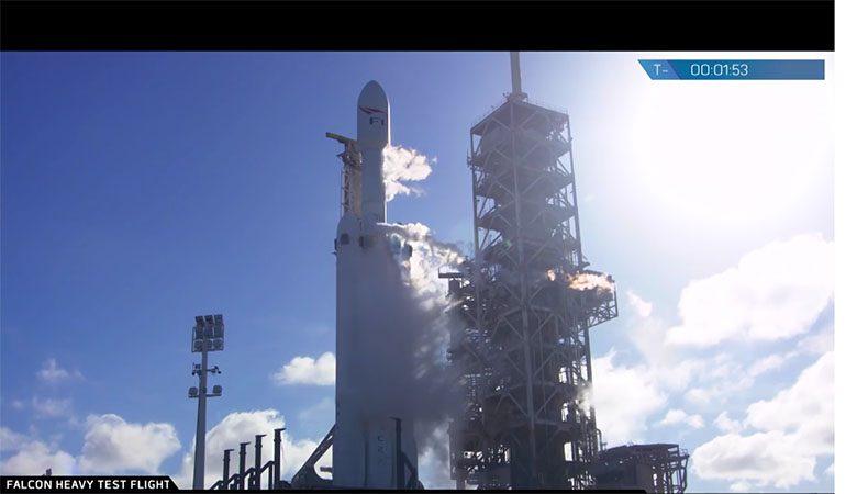 """Украинцы участвовали в запуске """"марсианской"""" ракеты Илона Маска Falcon Heavy (ФОТО, ВИДЕО)"""