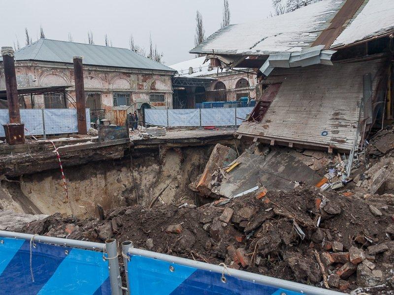 ВХарькове сооружение провалилось под землю