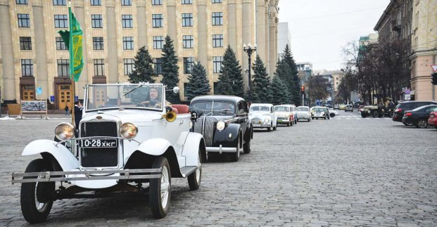 По центру Харькова проедут ретро-автомобили