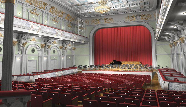 Работы в большом зале филармонии идут по графику (видео)