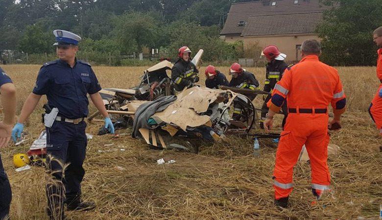 В Польше разбился вертолет с пассажирами (фото)