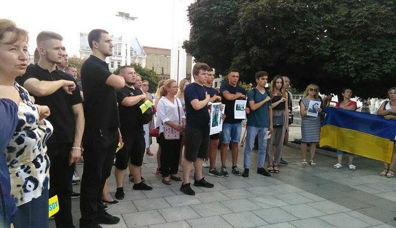 Около полусотни харьковчан вышли на всеукраинскую акцию «Свободу Пленным»