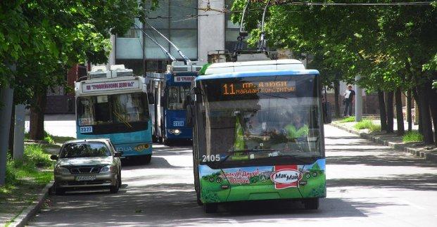 Троллейбус №11 завтра будет ходить до круга на Конева