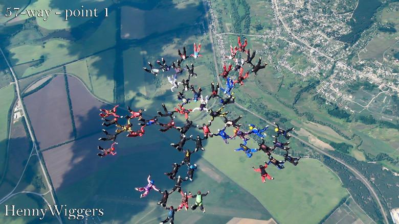 В Харькове установлен мировой рекорд по парашютному спорту среди женщин (фото, видео)