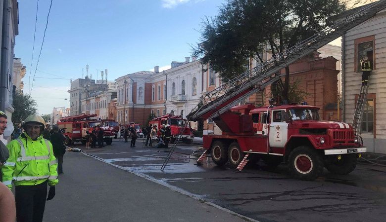 Пожар в Инженерно-педагогической академии охватил площадь 500 кв.м — ГСЧС