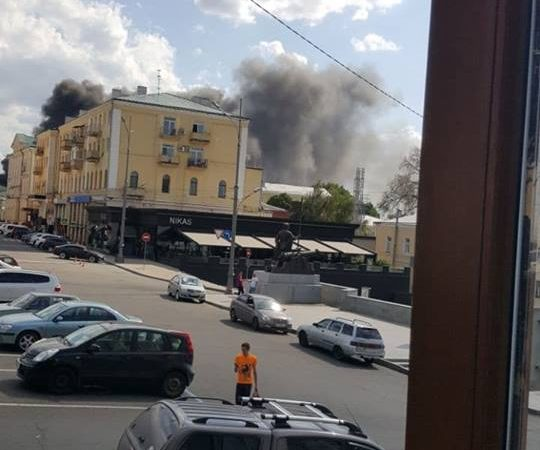 В Харькове горит здание Инженерно-педагогической академии (фото)