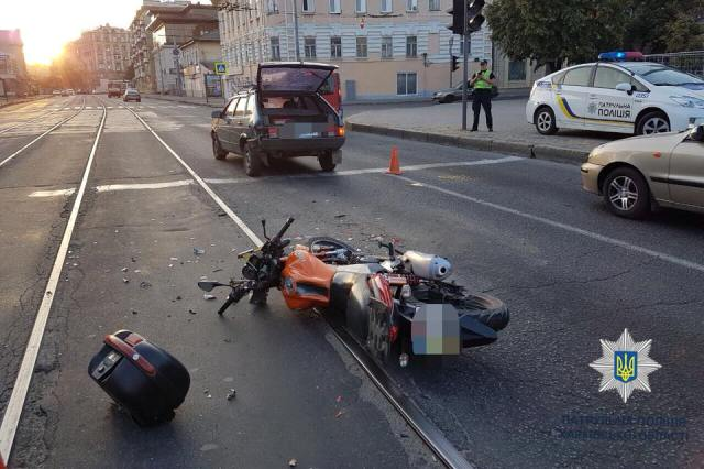 На Московском сбит мотоциклист (фото)
