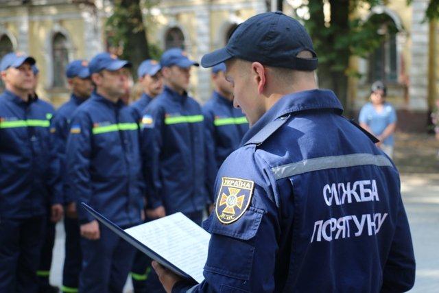 Пожарно-спасательная служба пополнилась новыми бойцами
