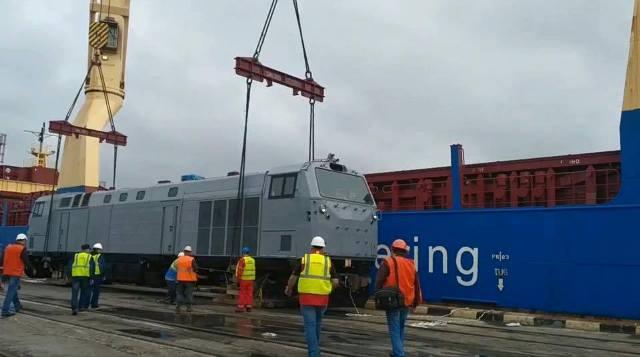 Впорт Одесской области прибыл 1-ый локомотив General Electric
