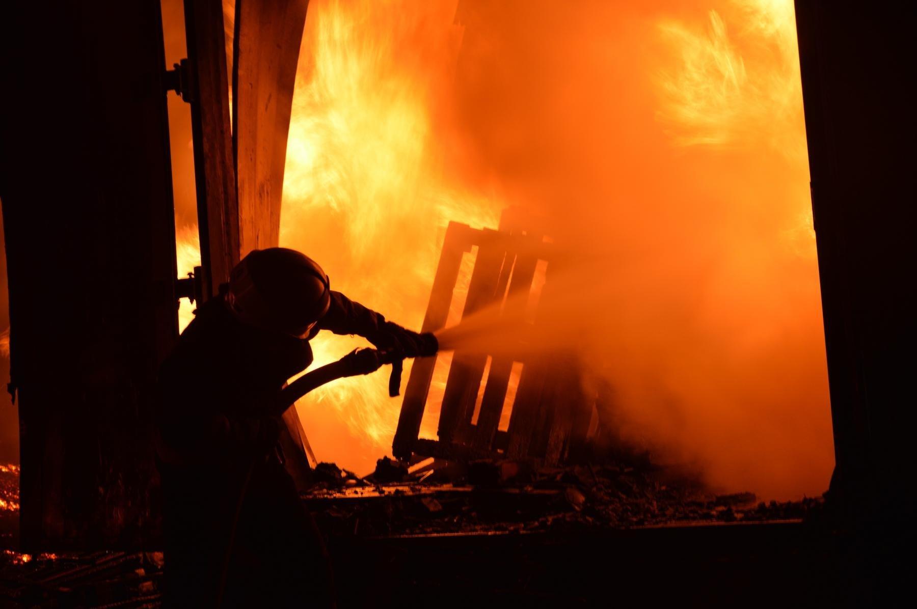 В Змиевском районе при пожаре погибла женщина