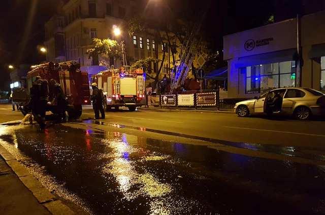 На Пушкинской произошел пожар (фото)