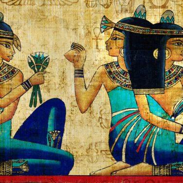 Синяя египетская краска помогает в жару обходиться без кондиционеров