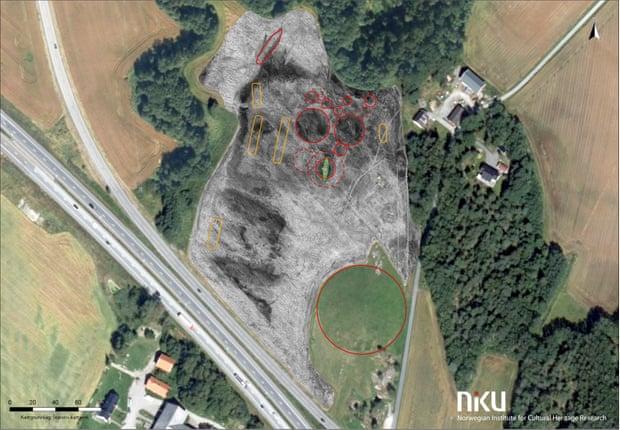 В Норвегии раскопали кладбище викингов с 20 – метровым кораблем