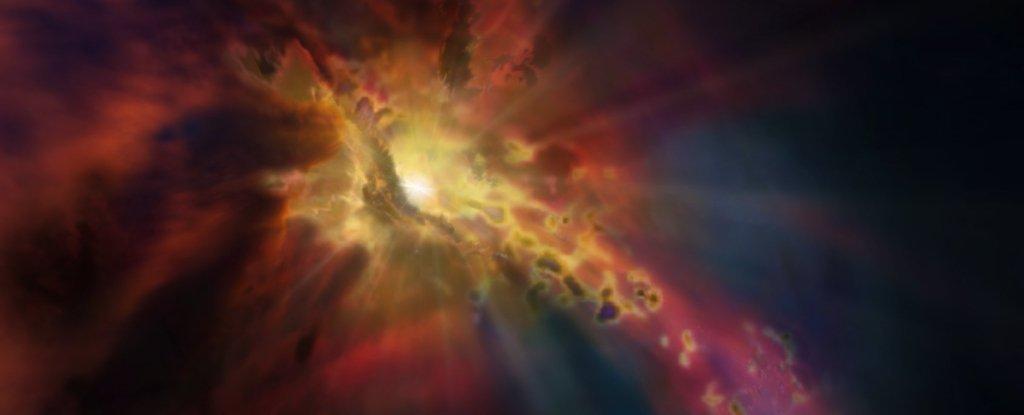 Гигантский «фонтан» обнаружили в космосе