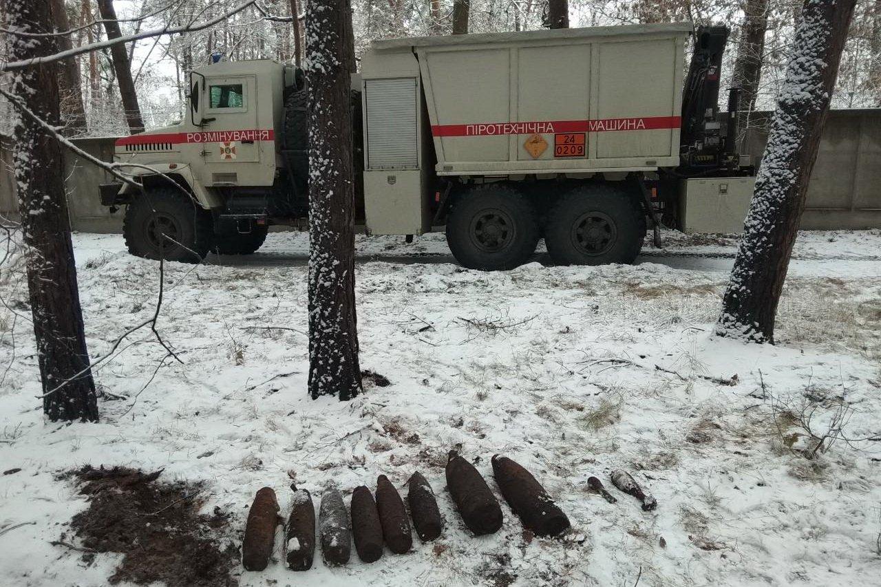 Спасатели ликвидировали 32 боеприпаса (фото)