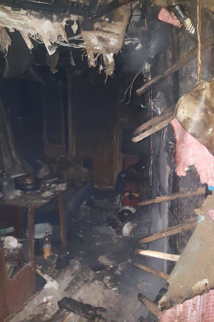 На Немышле в результате пожара погиб человек