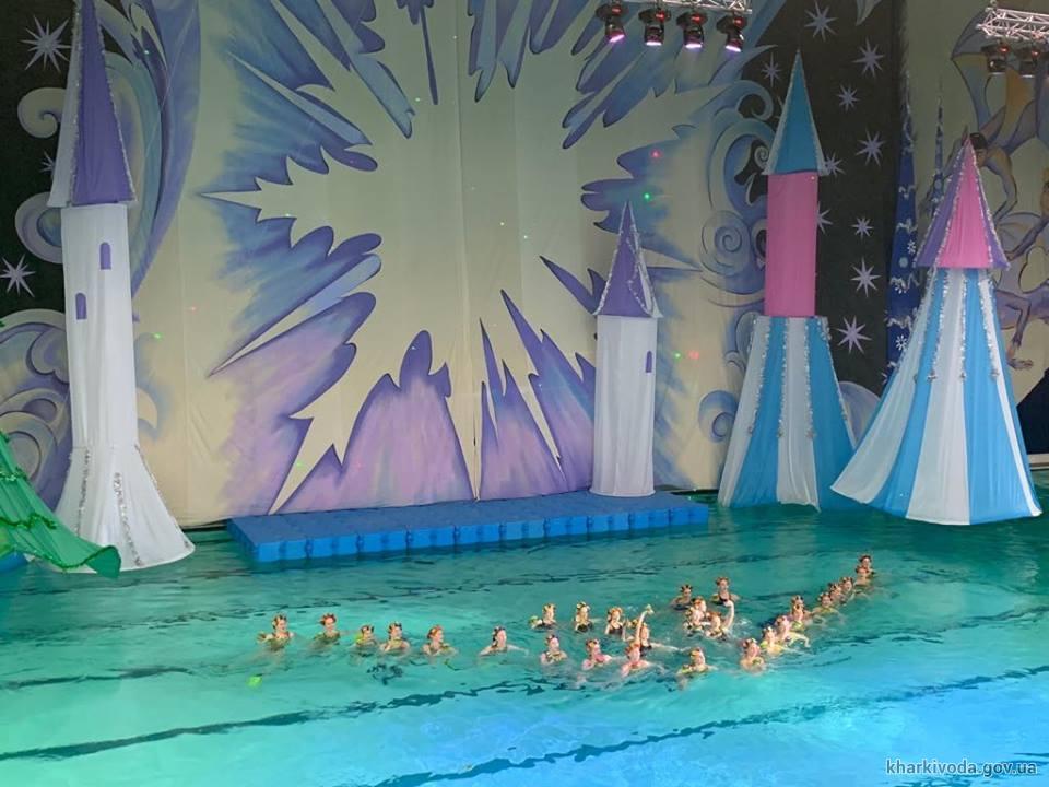 В бассейне «Локомотив» стартовали новогодние елки на воде (фото)