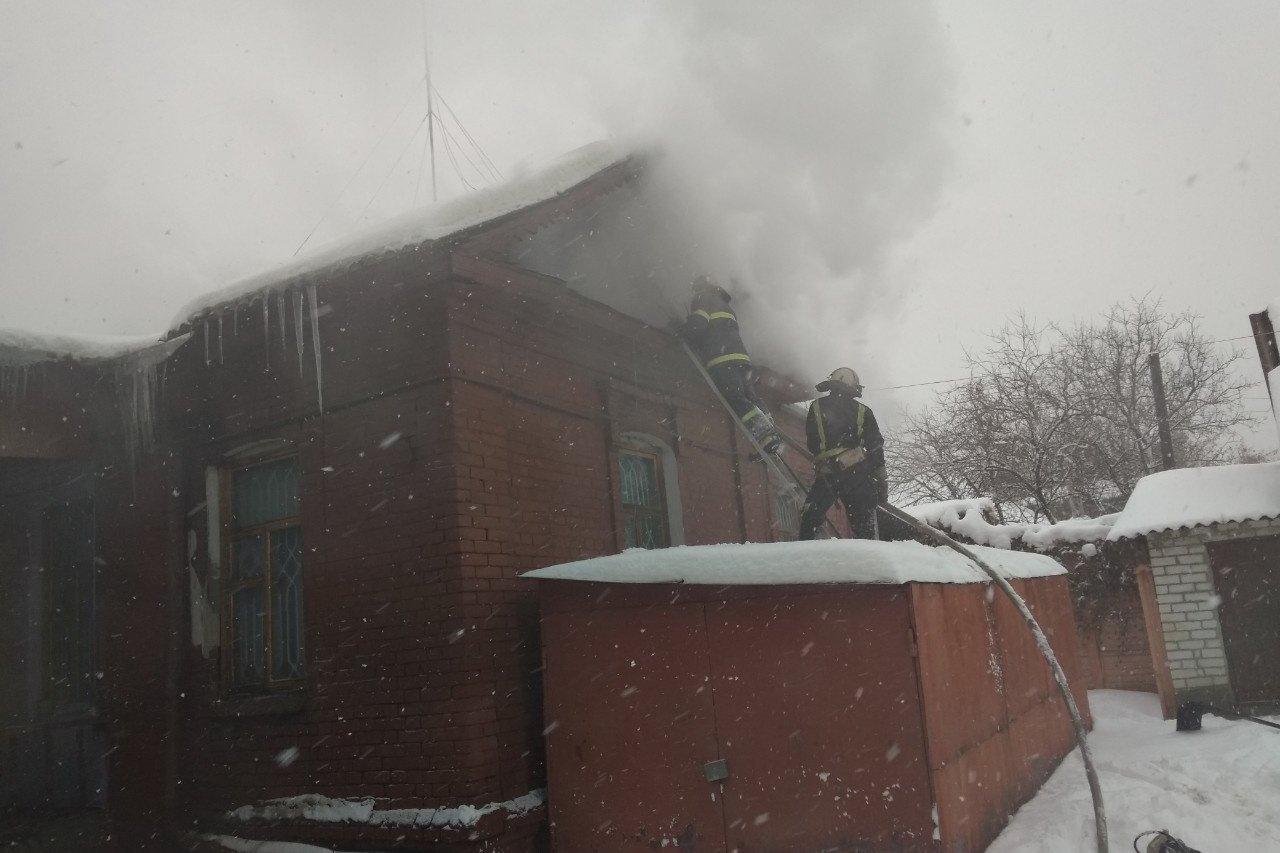 На Основе горел частный дом (фото)
