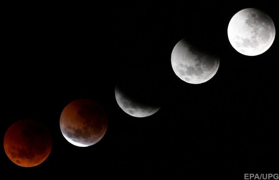 """Жители Земли наблюдали """"кровавое"""" лунное затмение (видео)"""