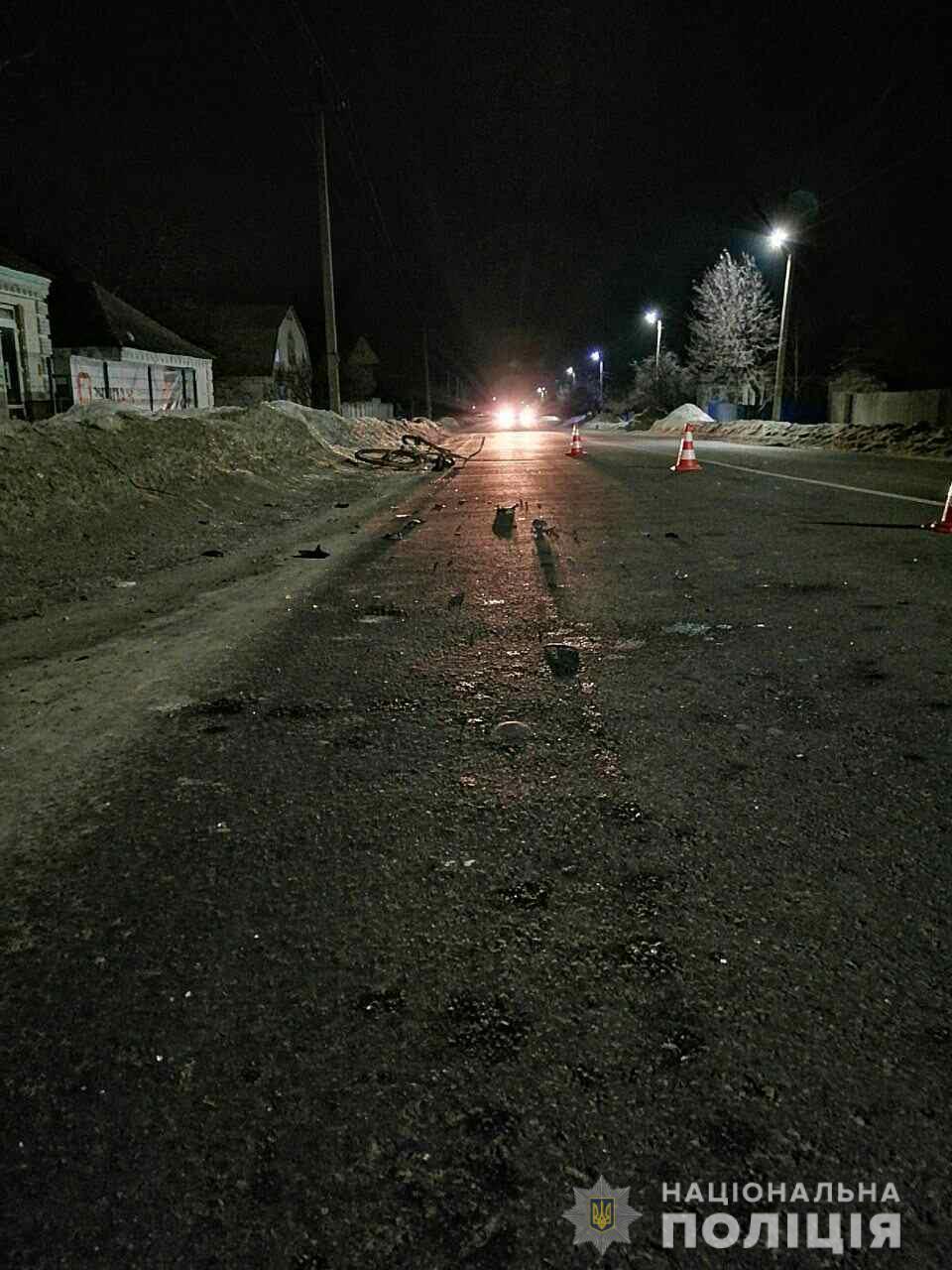 Полицейские нашли водителя, который сбил под Харьковом велосипедиста