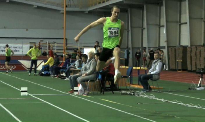 Харьковчанин выиграл чемпионат Украины по тройному прыжку