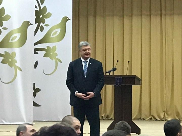 Президент Украины побывал в Краснокутске