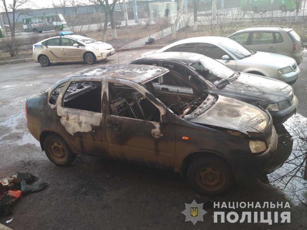 За сутки на Харьковщине подожгли несколько автомобилей