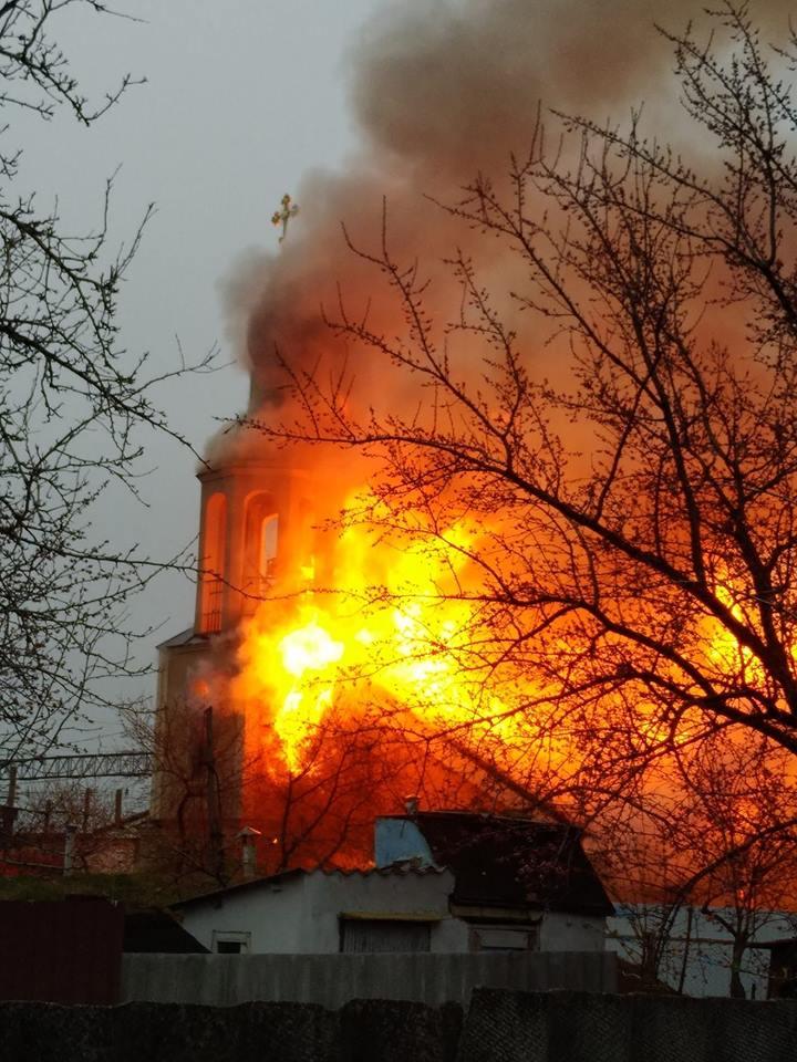 Полиция не исключает поджога храма Николая Чудотворца на Харьковщине