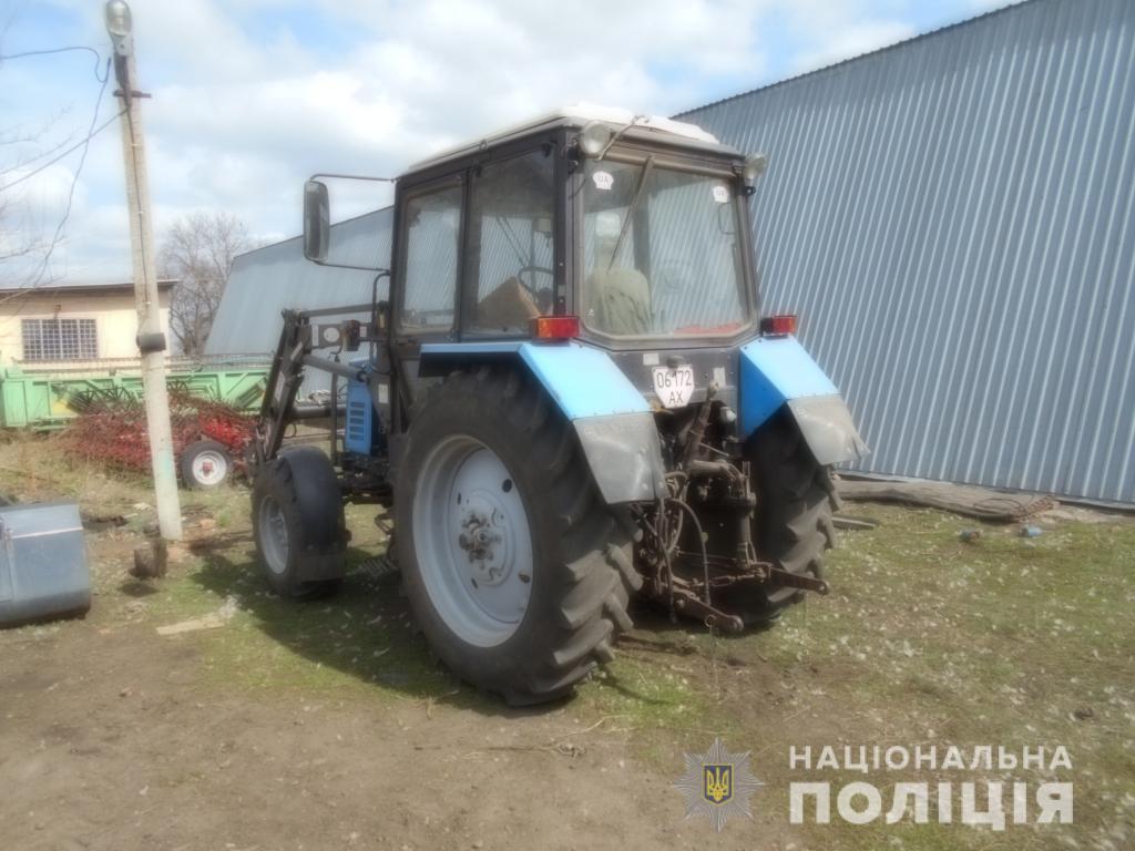 На Харьковщине два парня разобрали трактор соседа на металлолом (фото)