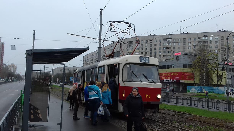В Харькове трамвай №20 изменил маршрут