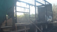 В Харькове пожар на болоте уничтожил полуприцеп и нанес ущерб соседним частным домам (фото)