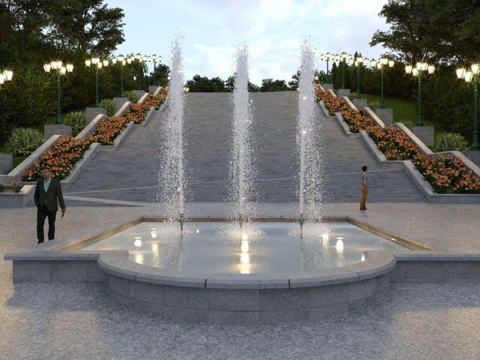 «Никто не рушил памятник»: Кернес показал, каким будет «Каскад» после реконструкции (фото)