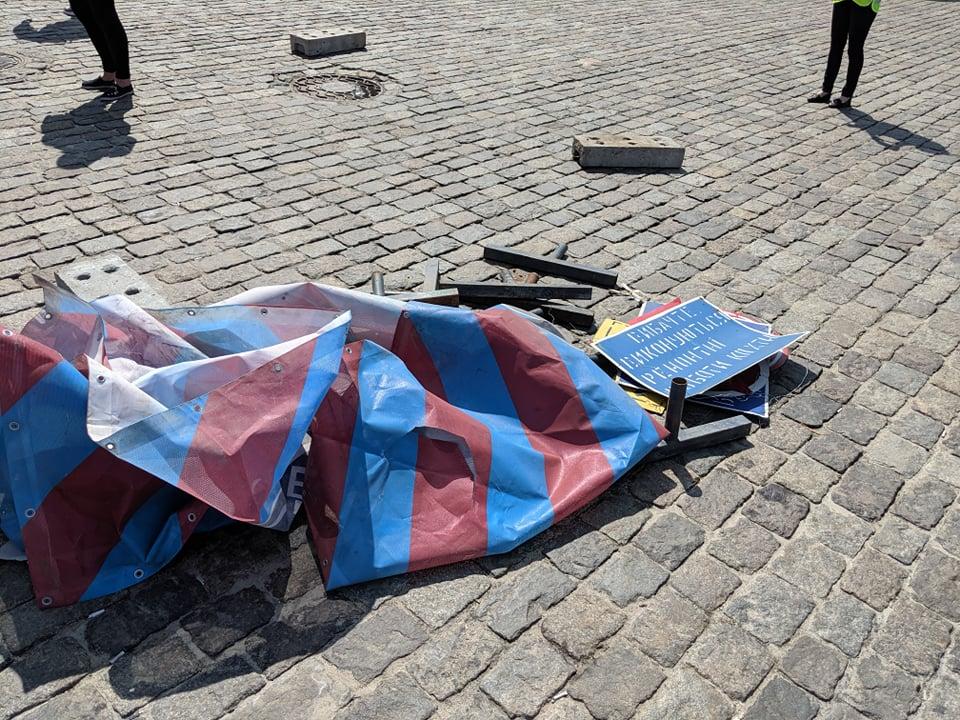 Аварии на площади Свободы возле волонтерской палатки нет – теплосети