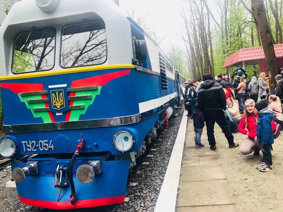 В Харькове открылась детская железная дорога