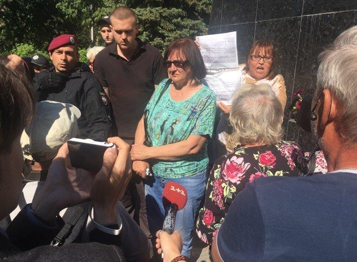 Акция «Прощание с мясником» в Харькове: возле памятника Жукову произошла потасовка (фото, видео)