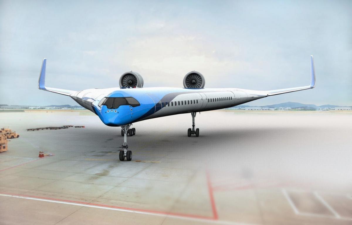 Голландские разработчики показали концепт авиалайнера будущего (видео)