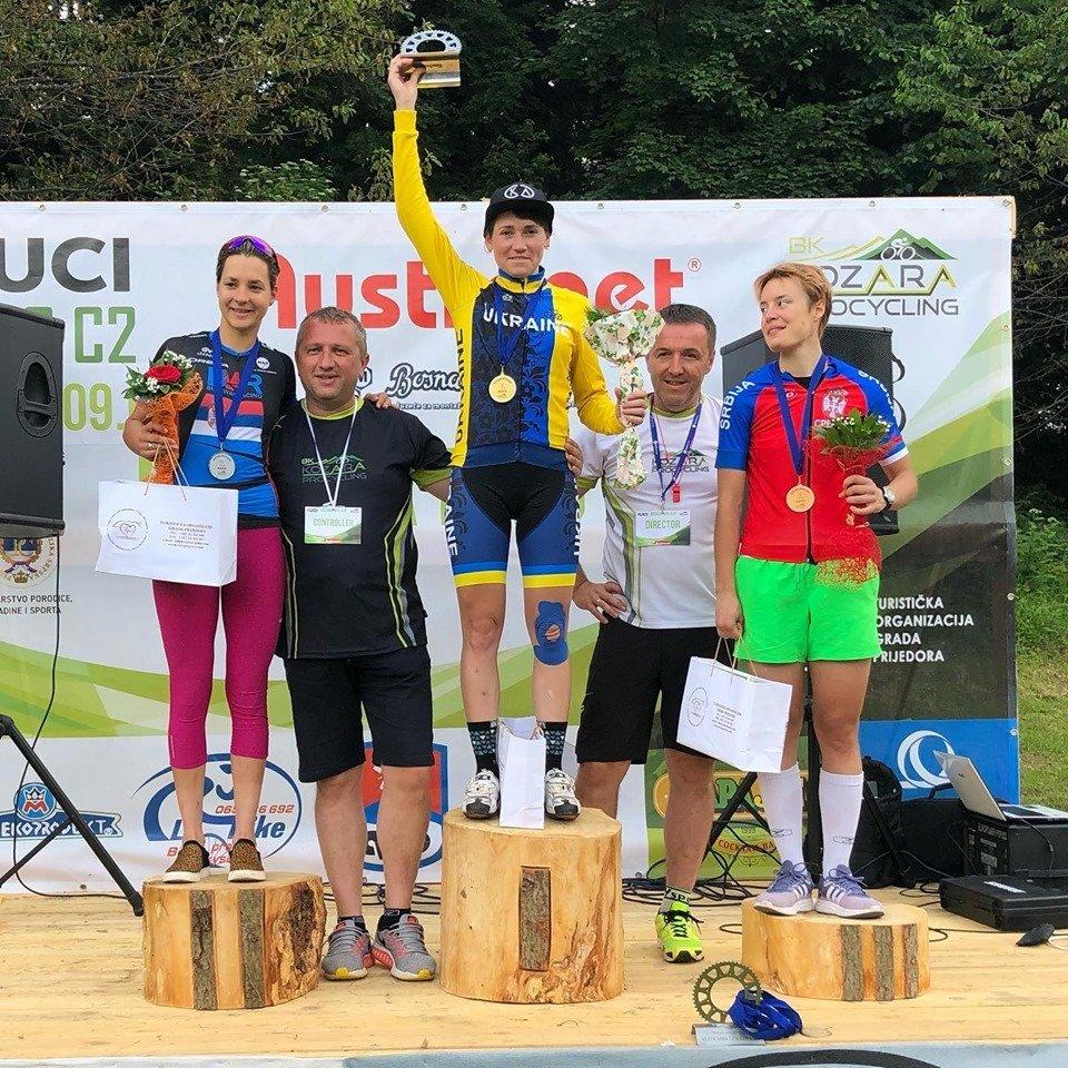 Харьковская велосипедистка выиграла гонку в Боснии и Герцеговине (фото)