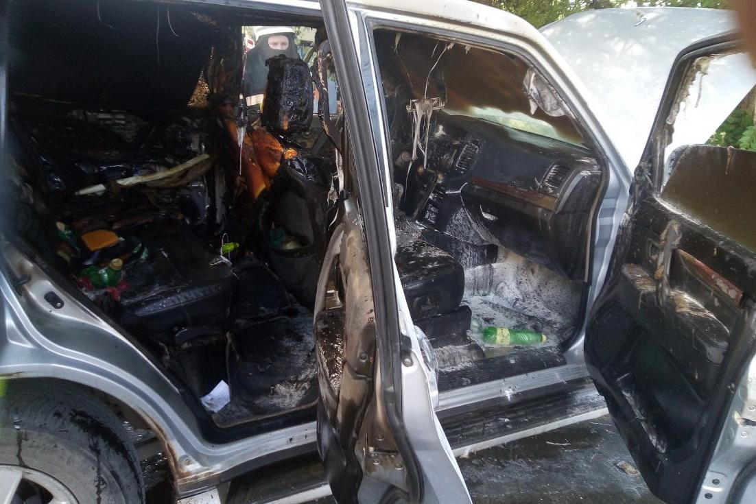 В Харькове на ходу загорелось авто (фото)