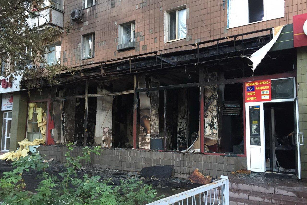 В Харькове сгорело похоронное бюро (фото)